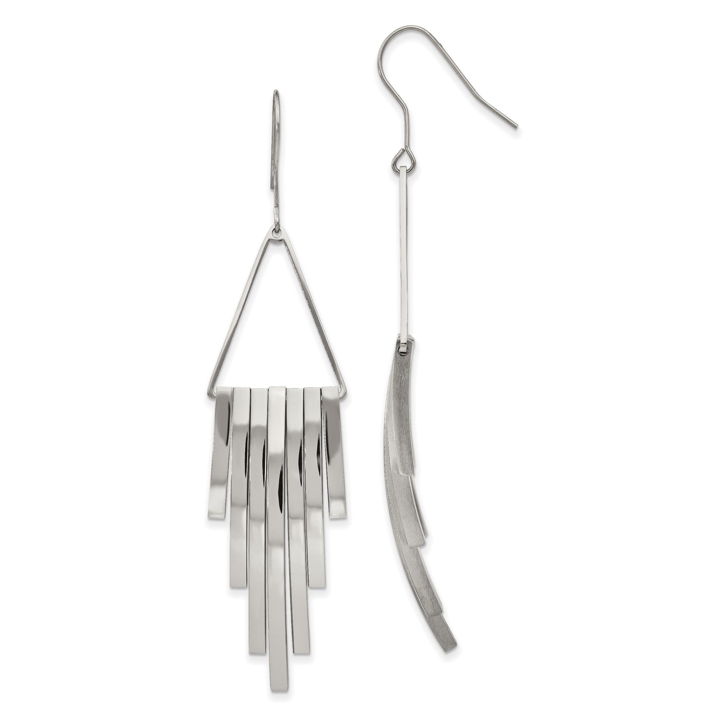 Stainless Steel Polished Hoop Earrings 53.84mm